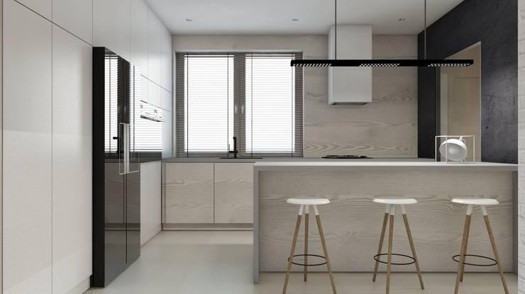 Projekt domu jednorodzinnego 3 (wykonany dla A2.Studio Pracownia Architektury): styl , w kategorii Kuchnia zaprojektowany przez BAGUA Pracownia Architektury Wnętrz