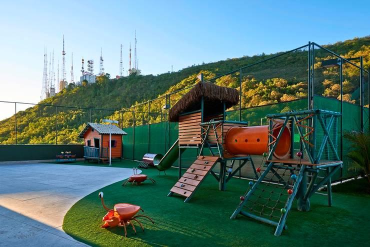 Ed. Residencial Green Garden: Jardins  por Alessandra Contigli Arquitetura e Interiores