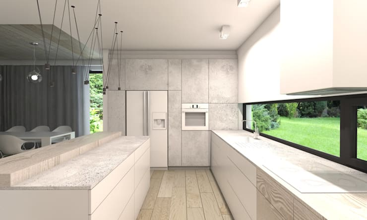 Dapur Modern Oleh BAGUA Pracownia Architektury Wnętrz Modern