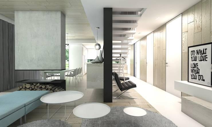 Koridor & Tangga Modern Oleh BAGUA Pracownia Architektury Wnętrz Modern