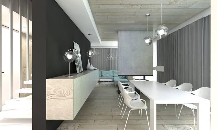 Ruang Makan Modern Oleh BAGUA Pracownia Architektury Wnętrz Modern