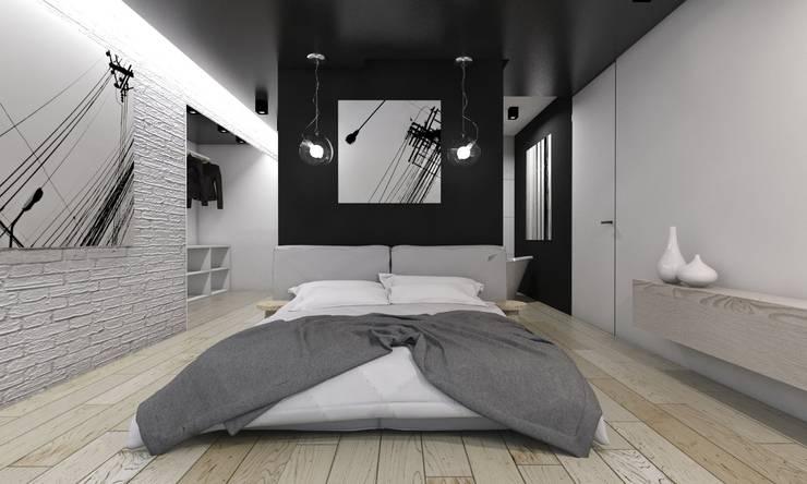 Kamar Tidur Modern Oleh BAGUA Pracownia Architektury Wnętrz Modern