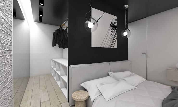 Projekt domu jednorodzinnego 4 : styl , w kategorii Garderoba zaprojektowany przez BAGUA Pracownia Architektury Wnętrz