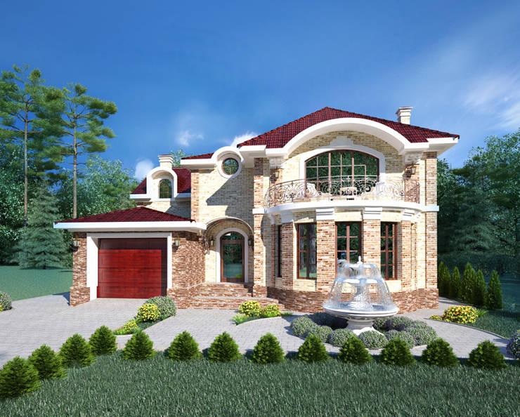 Projekty,  Domy zaprojektowane przez Студия Ксении Седой