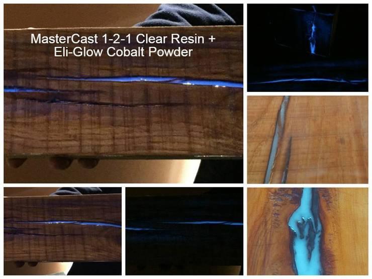 Transforming wood into a photo-luminescent work of art...:   by Eli-Chem Resins U.K Ltd