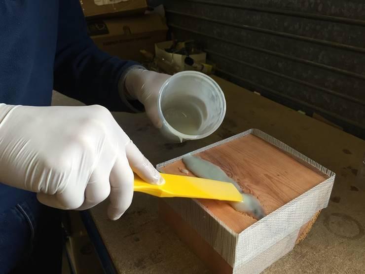 Transforming wood into a photo-luminescent work of art… :   by Eli-Chem Resins U.K Ltd
