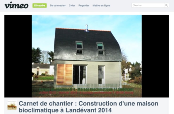 Maison bioclimatique Maisons modernes par Patrice Bideau a.typique Moderne