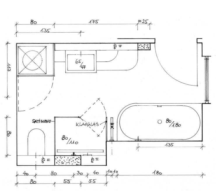 ein grundriss zwei b der von hansen innenarchitektur materialberatung homify. Black Bedroom Furniture Sets. Home Design Ideas