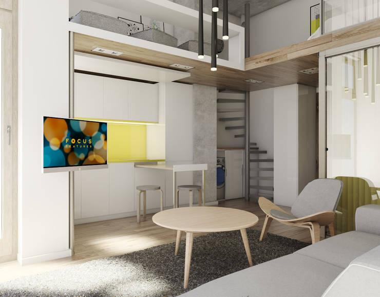 Mieszkania / Kawalerka 1: styl , w kategorii Kuchnia zaprojektowany przez BAGUA Pracownia Architektury Wnętrz