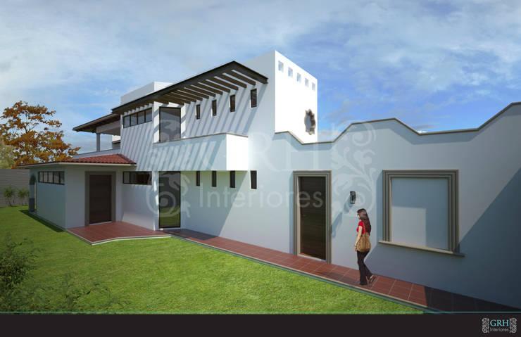 Casa Alzatí: Casas de estilo  por GRH Interiores