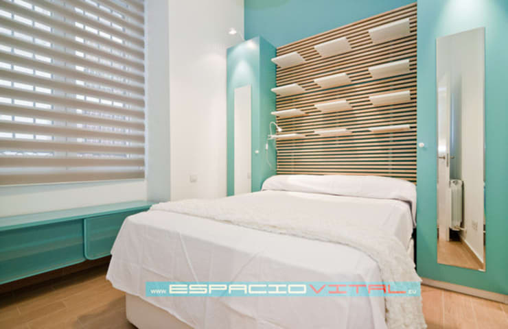 Apartamento SkyLine: Dormitorios de estilo  de Javier Zamorano Cruz