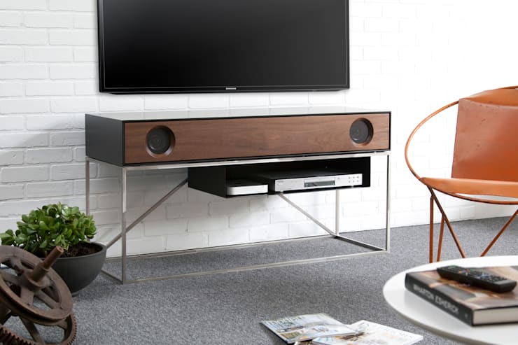 Stereo Console:  Multimedia room by Symbol Audio