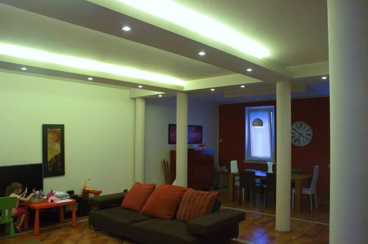 Sistemazione interni e nuova illuminazione casa di borgo von