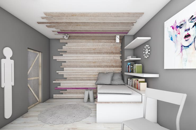 โดย BAGUA Pracownia Architektury Wnętrz สแกนดิเนเวียน