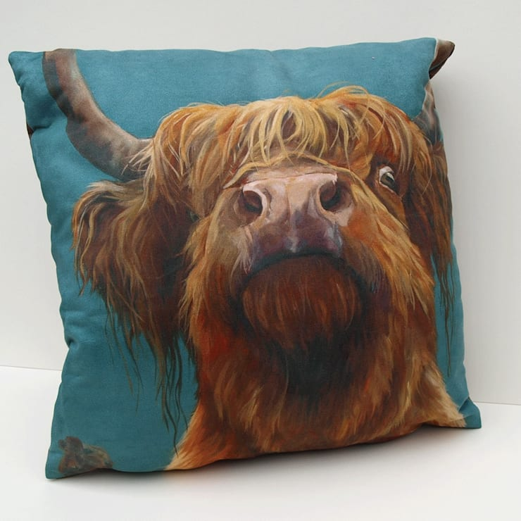 'the Highland way' cushion:  Dining room by Thuline, Studio-Gallery
