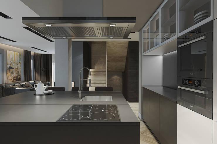 Кухня в загородном доме: Кухни в . Автор – MC Interior