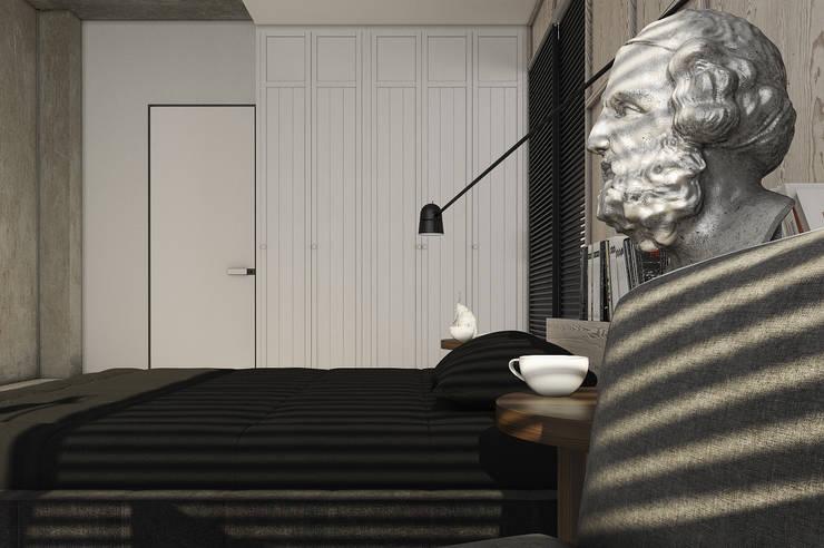 Минималистичный дизайн загородного дома: Спальни в . Автор – MC Interior