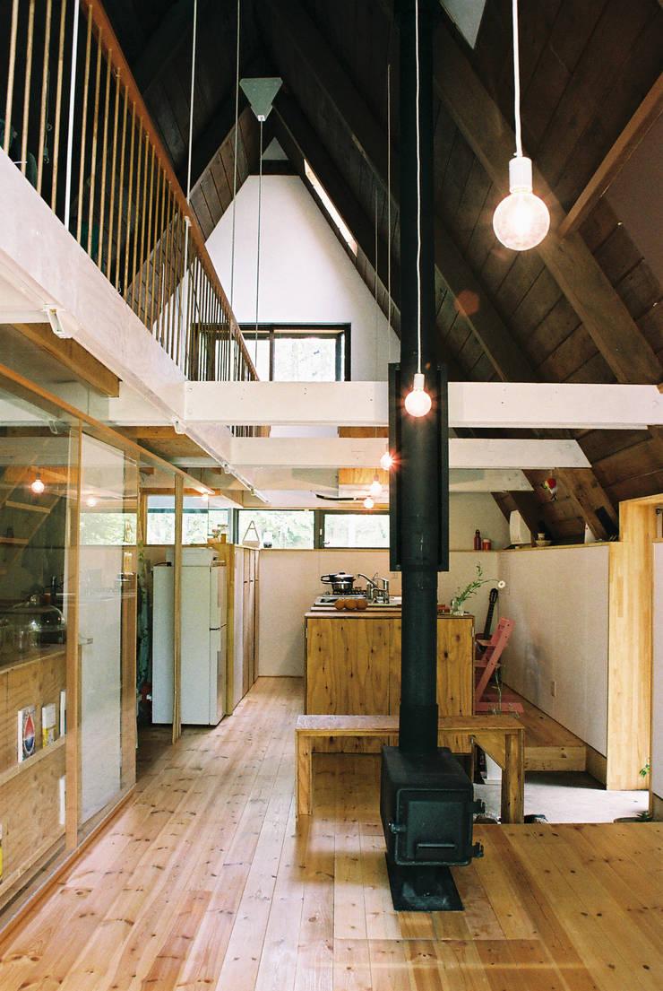 あなたとわたしの家: スズケン一級建築士事務所/Suzuken Architectural Design Officeが手掛けたリビングです。