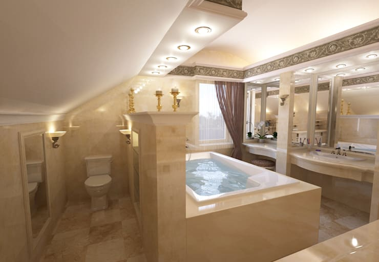 Дом- как мир.: Ванные комнаты в . Автор – Студия Ксении Седой