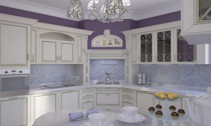 Дом- как мир.: Кухни в . Автор – Студия Ксении Седой