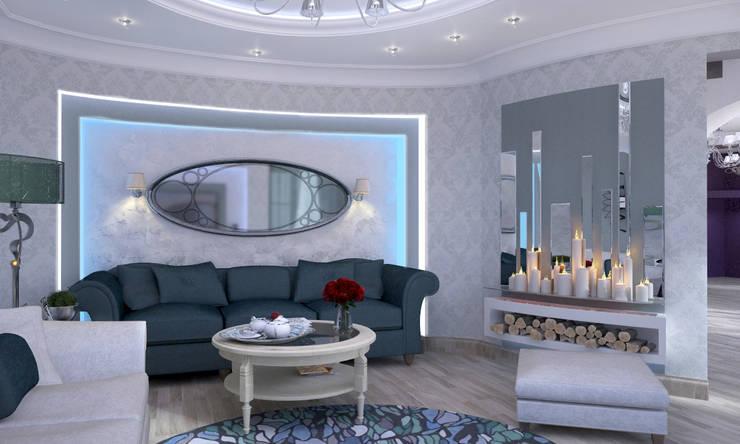 Дом- как мир.: Гостиная в . Автор – Студия Ксении Седой