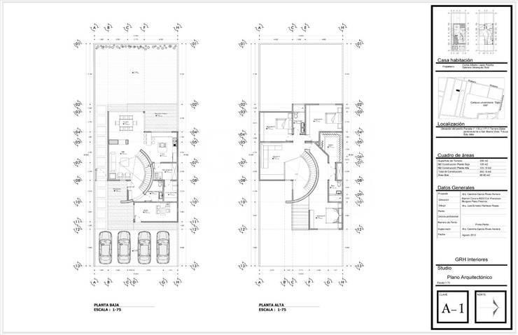 Proyecto Chaga:  de estilo  por GRH Interiores