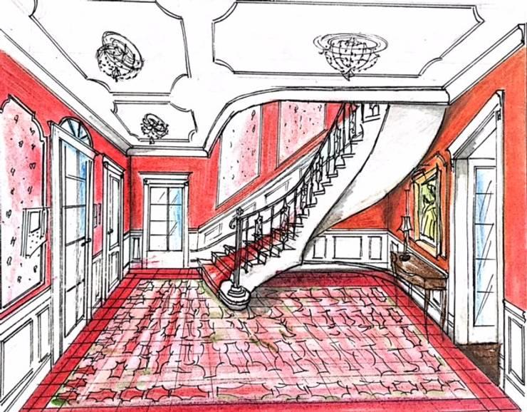 RÓŻNORODNE SZKICE ;-))).: styl , w kategorii  zaprojektowany przez livinghome wnętrza Katarzyna Sybilska