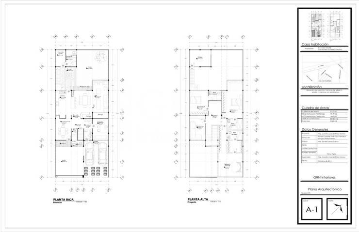 Proyecto Zárate:  de estilo  por GRH Interiores