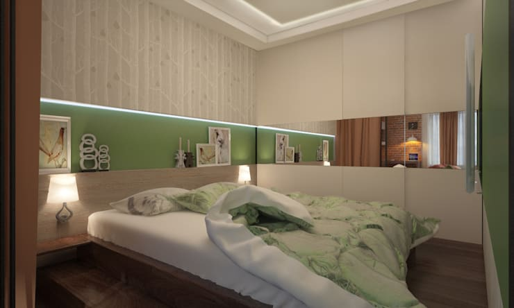 Яркая однушка: Спальни в . Автор – Студия Ксении Седой