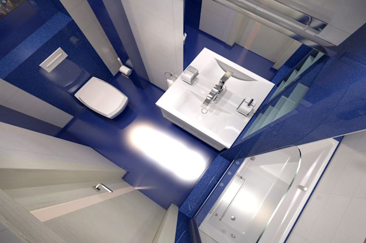 Яркая однушка: Ванные комнаты в . Автор – Студия Ксении Седой