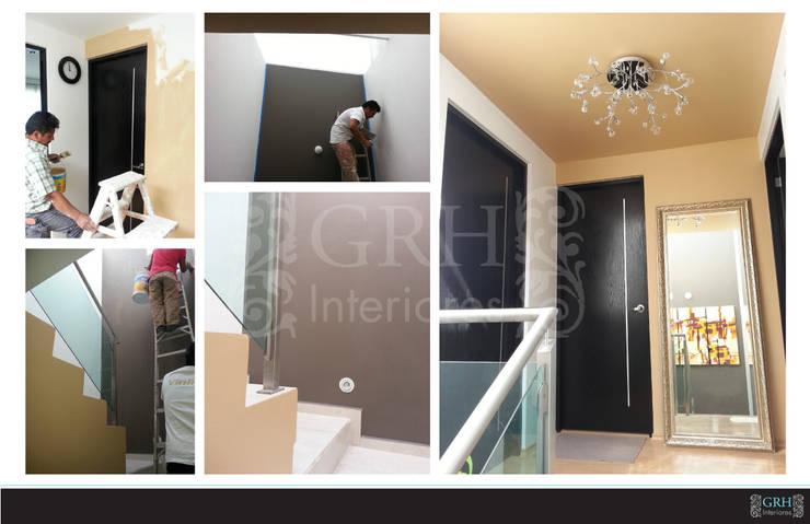 Vilma: Pasillos y recibidores de estilo  por GRH Interiores