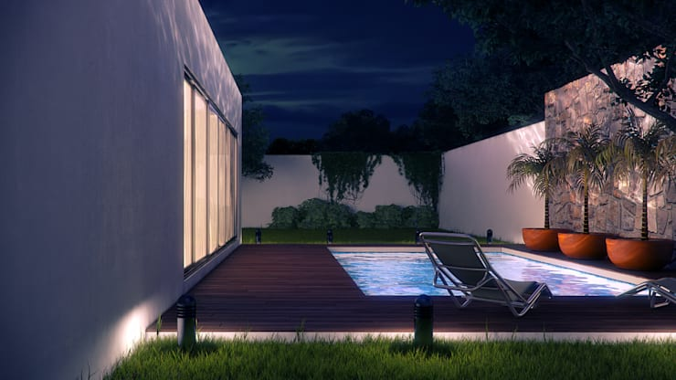 Piscinas  por Lights & Shades Studios, Moderno