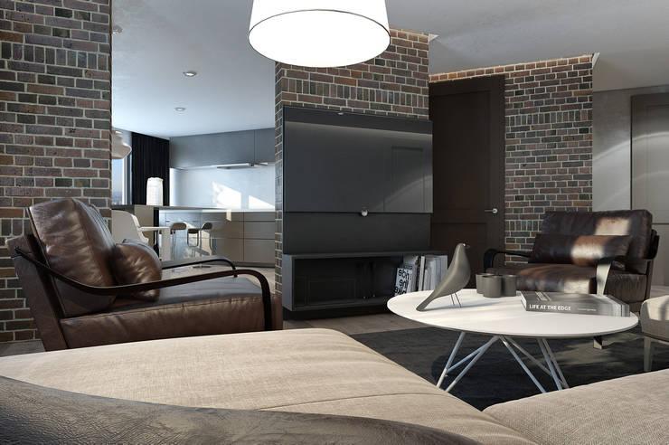 Дизайн гостиной: Гостиная в . Автор – MC Interior