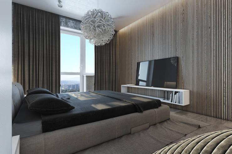 Квартира ЛОФТ: Спальни в . Автор – MC Interior