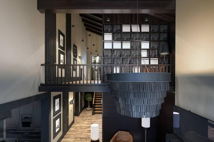 Дизайн загородного дома: Гостиная в . Автор – MC Interior