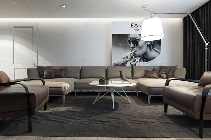 Квартира ЛОФТ: Гостиная в . Автор – MC Interior