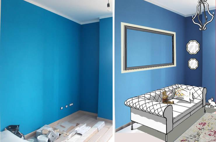 La camera dei bambini - Prima e Dopo:  in stile  di Lisa Natali Architetto