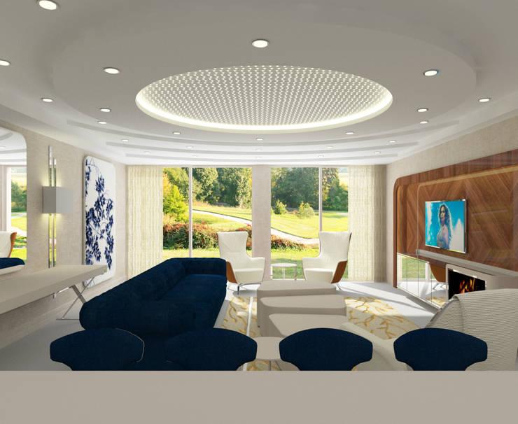 Salas de estilo moderno de Inan AYDOGAN /IA Interior Design Office Moderno
