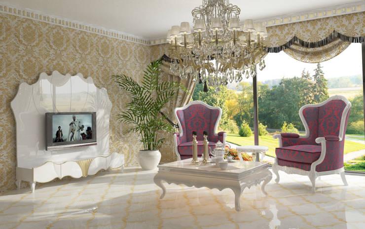 Inan AYDOGAN /IA  Interior Design Office – AVANGARDE BEDROOM:  tarz Oturma Odası