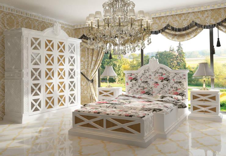 Inan AYDOGAN /IA  Interior Design Office – COUNTRY  BEDROOM:  tarz Yatak Odası