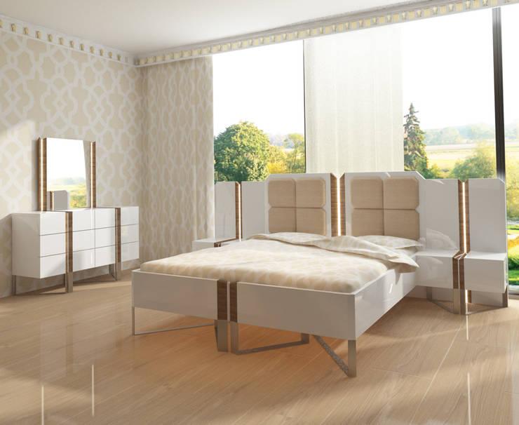 Inan AYDOGAN /IA  Interior Design Office – MODERN BEDROOM:  tarz Yatak Odası
