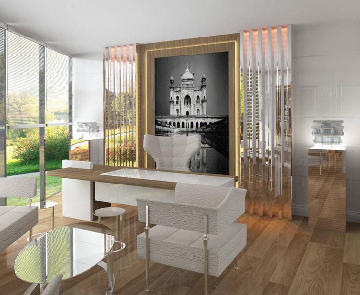 Inan AYDOGAN /IA  Interior Design Office – GUZELL TOWER OFFICE:  tarz Ofis Alanları,