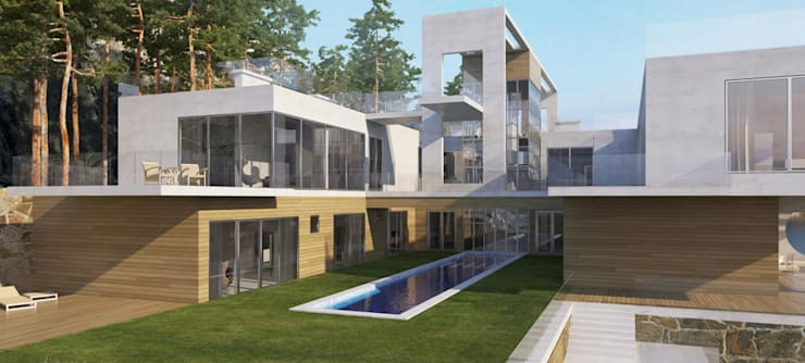 Проект дома на скале: Дома в . Автор – Студия авторского дизайна БОН ТОН
