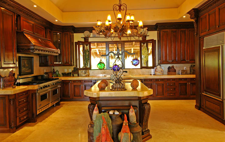 20 cocinas de madera con isla fabulosas. Black Bedroom Furniture Sets. Home Design Ideas