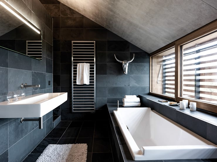 modern Bathroom by Maisons Loginter