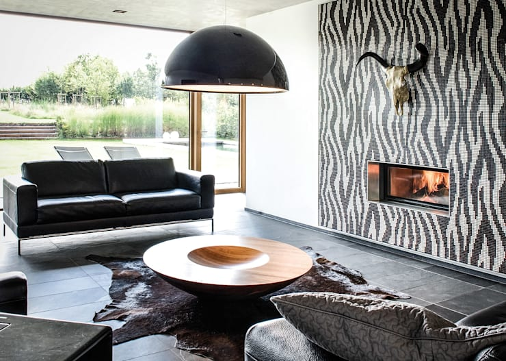 modern Living room by Maisons Loginter