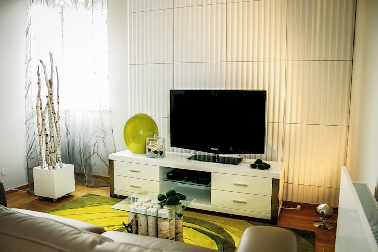 Salas / recibidores de estilo  por Loft Design System Deutschland - Wandpaneele aus Bayern, Moderno