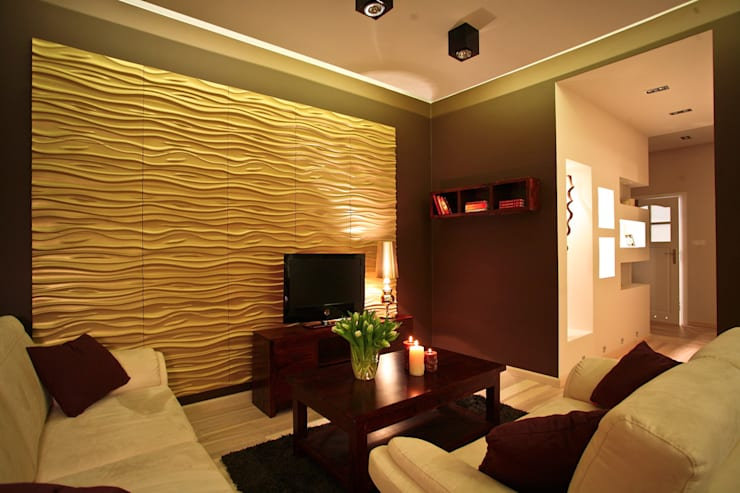 Salas / recibidores de estilo  por Loft Design System Deutschland - Wandpaneele aus Bayern, Clásico