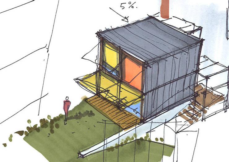 Croquis d'intention:  de style  par Atelier d'architecture Bm²