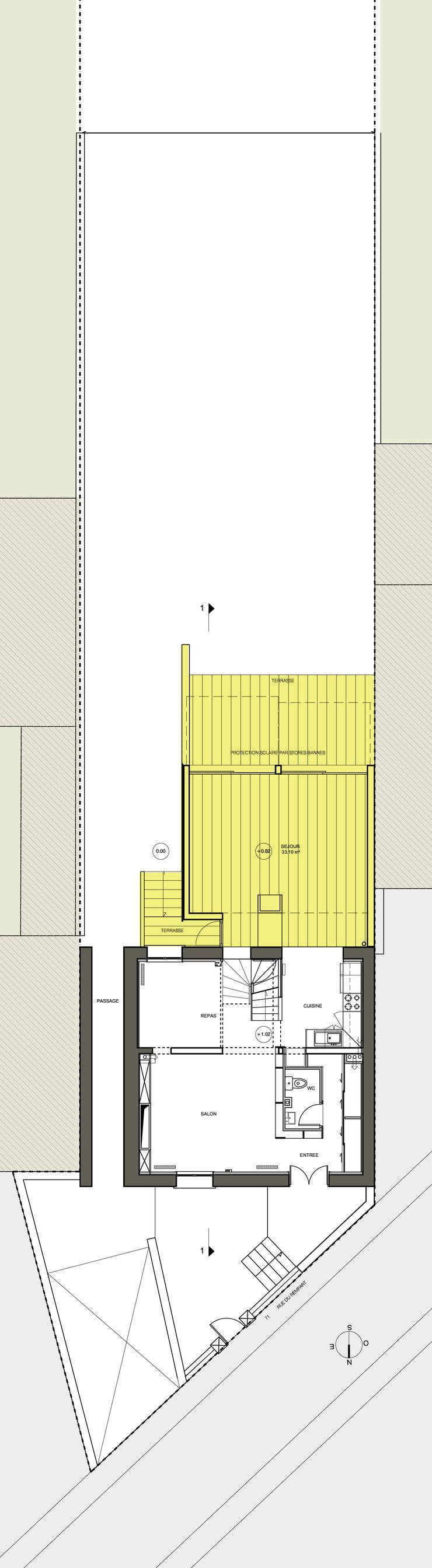 Rempart:  de style  par Atelier d'architecture Bm²